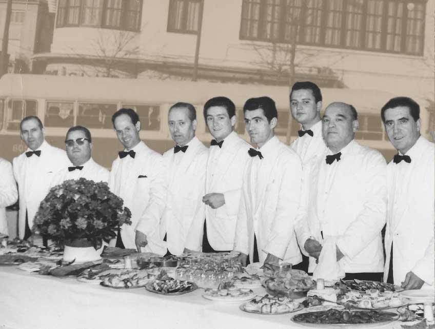 Camareros. 1970s